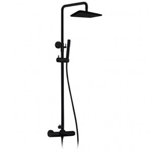 Jade 8015-00-11 Shower Faucet Jacki Black Collection Matte