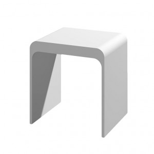 Jade ST-012 Kass 15.75 in. W x 11.8 in. D Solid Surface Non-Adjustable Modern Tub And Shower Seat In Matte White