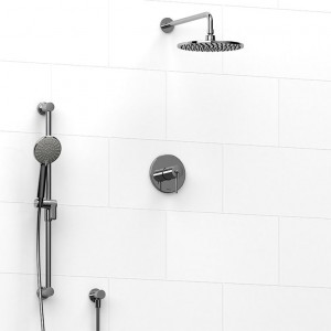 "Riobel 1623 Premium-Kit Collection Type T/P ½"" Coaxial System With Hand Shower Rail And Shower Head Chrome"