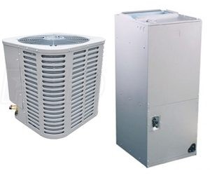 Ameristar Central Heat Pump 2.0 Ton Seer 14 with Air Handler Included (M4HP4024A1000A-M4AH4025A1000A)