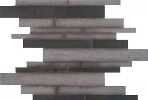 Interlocking Pattern,Mixed Finish Mosaic Mystic Gray (SMOT-MG-ILMF10MM)