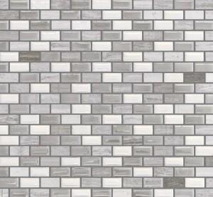 Interlocking Porcelain/Stone,Mesh-mounted Mosaic Wall TileMalibu 12X12X1 (MALIBU B6)