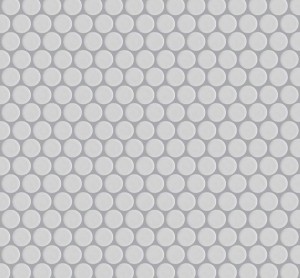 Interlocking Ceramic,Mesh-mounted Mosaic Wall TilePenny Round 12X12X1 (MCP129)