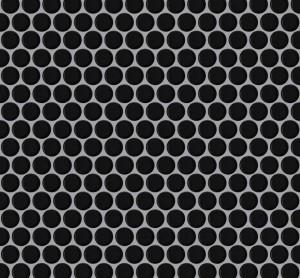 Interlocking Ceramic,Mesh-mounted Mosaic Wall TilePenny Round 12X12X1 (MCP131)