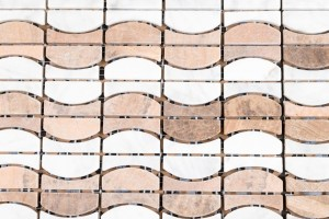 Interlocking Onyx, Mesh-mounted Mosaic Wall Tile (ONYX)