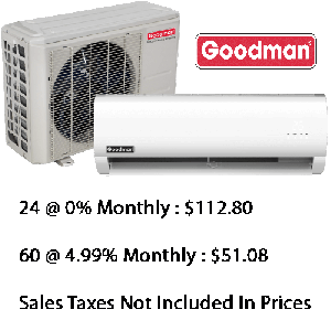 Goodman Single Zone Heat Pump 18000 Btu Seer 22.5 With Base Installation*