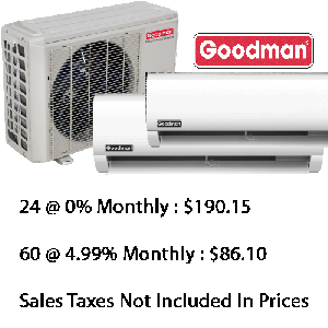 Goodman Dual Zone Heat Pump (12000+12000) Btu Seer 22.5 With Base Installation*