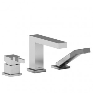 Riobel MZ10 Mizo Collection 3-Piece Deck-Mount Tub Filler With Hand Shower Chrome