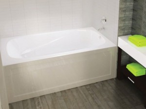 "Mirolin PAS6632L/RAW Phoenix-2 Skirted Baths - Whirlpool 66"" White"