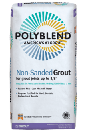 CUSTOM -CPBG38110N-BUILDING PRODUCTS  #381 Bright White - Polyblend Non-Sanded Grout - 10lb