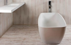 Tomlin - TOMCARMEN-BAT Freestanding Quartz Bath In White 67-1/4""