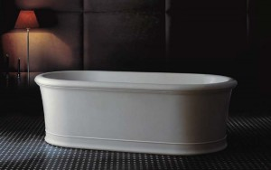 Tomlin - TOMEMMA-BAT Freestanding Quartz Bath In White 70-3/4""