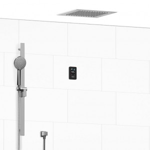 """Riobel 902GE ½"""" Electronic System With Hand Shower Rail And Shower Head Chrome"""