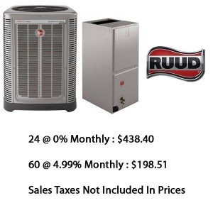 Ruud Central Heat Pump 3 Ton Seer 16 With Base Installation*