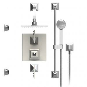 Rubinet 31ICLRDRD Shower System Main Finish Choice