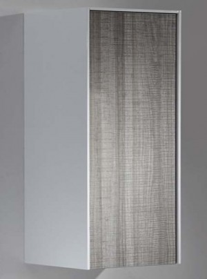 "Bathroom Vanity Cabinet,  Hi Gloss White & Hi Gloss Ash  13-3/4"""