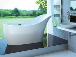 "Mirolin FSW103 Sirena Free Standing Bath - Soaker 66 ½"" White"