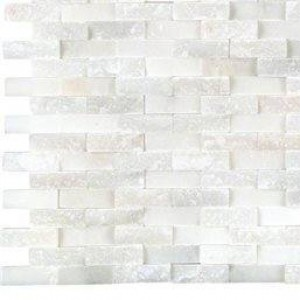 Interlocking Ceramic,Greecian White Splitface (SMOT-GRE-SFIL10MM)