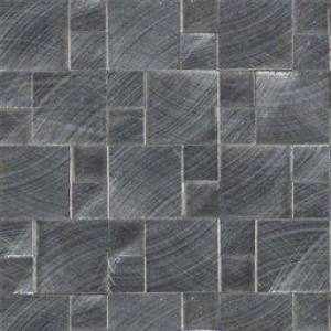 Interlocking Ceramic,Silver Aluminum Metal 3D Pattern(SMOT-MET-SLVAL)