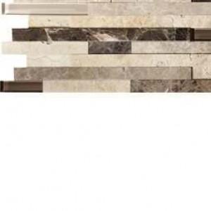 Interlocking Ceramic,Ashlar Rock Interlocking 3d Pattern 8 x 18 8 MM(SMOT-SGLSIL-AR8MM)