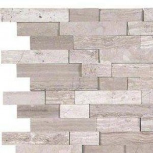 Interlocking Ceramic,White Quarry Splitface Pattern 10 MM(SMOT-WQ-SFIL10MM)