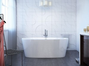 "Mirolin FSW102 Sybil Free Standing Bath - Soaker 62 ½"" White"