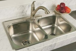 BOSCO - BOS-T207001-KIT  - KITCHEN SINK UNDERMOUNT DOUBLE SINK 18 GAUGE STAINLESS STEEL