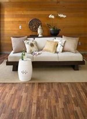 Tarkett Floating Vinyl Flooring 12' Wide (3.66m) Fresh Start™ Clearwater Oak Gunstock