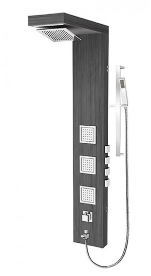 Tenzo TZBW-06 Shower Panel 4 Functions Bamboo