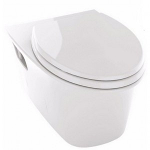 Toto CT486FG-01 Maris Collection Wall-Hung Elongated Toilet Bowl Only with CeFiONtect in Cotton White