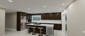 Contemporary Style Kitchen In Oak Wood Veneer With Counter In Quartz From Caesar Stone