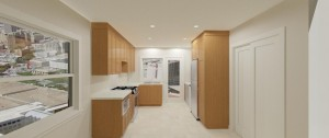 Modern Style Thermoplastic Kitchen With Counter In Quartz