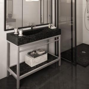 """Unik Stone Limestone Sink With Stainless Steel Base Vanity 39"""""""