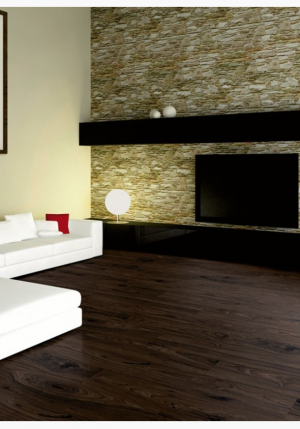 "1867 Laminate Floor Authentic Collection Sepia Color Walnut Made in Swiss (7-5/8""x54""x1/2"")"
