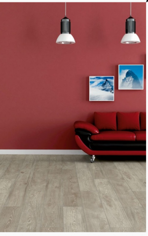 "1867 Laminate Floor Authentic Collection Ecru Color Red Oak Made in Swiss (7-5/8""x54""x1/2"")"