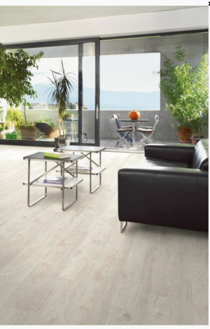 "1867 Laminate Floor Authentic Collection Isabelline Color Red Oak Made in Swiss (7-5/8""x54""x1/2"")"