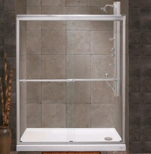 "Tomlin - FLORA - 2042E Shower Door 51-1/2""-53-1/2"""