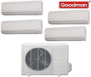 Goodman Ductless Mini Split Multi-Zone Heat Pump 36000 Btu (4x9000 Btu) Seer 21 (MST363E21MCAA-(4)MSH093E21AXAA)