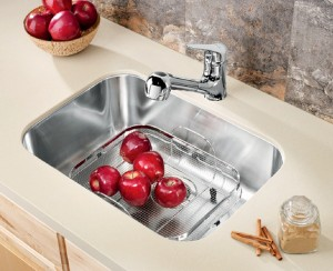"Blanco Single Kitchen Sink Satin Brushed Finish Essential U 1 Collection Stainless Steel 17-3/8""x24""x8"" (BLA400009)"