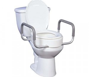 12402 - PREMIUM RAISED TOILET SEAT WITH REMOVABLE ARMS 17-1/2