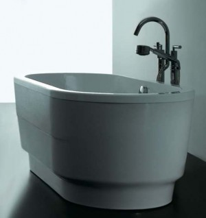 "Tomlin - TOMSOLSTICE-BAT ACRYLIC Freestanding bathtub 63"""