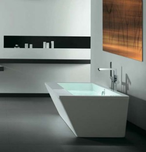 Tomlin - TOMVERTEX-BAT ACRYLIC Freestanding bathtub 67""