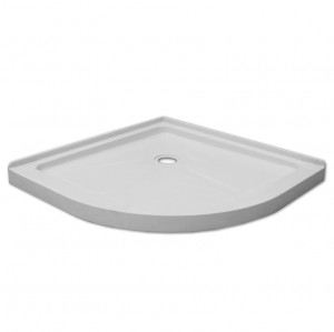 "Jade 7120-38-70 White Acrylic Neo Round Base With Tile Flange (38""x38"")"