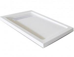 "Jade 7132-48-80 White Acrylic Base With Tile Flange And Linear Drain (32""x48"")"