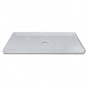 "Jade 7132-60-70 White Acrylic Base With Tile Flange And Central Drain (32""x60"")"