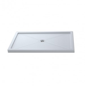 "Jade 7136-48-70 White Acrylic Base With Tile Flange And Central Drain (36""x48"")"