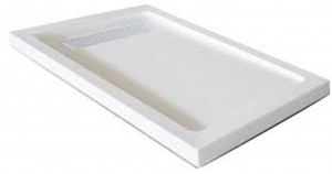 "Jade 7136-48-80 White Acrylic Base With Tile Flange And Linear Drain (36""x48"")"