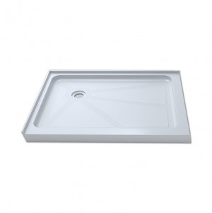 "Jade 7236-48-70 White Acrylic Base With Tile Flange And Left Drain (36""x48"")"
