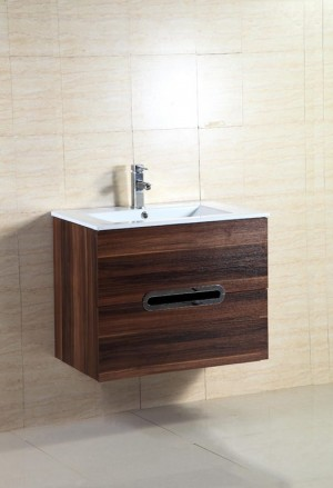 Bathroom Vanity & Sink,  Black Walnut  24""