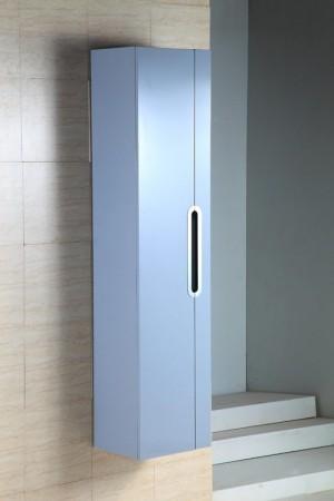 "Bathroom Vanity Cabinet,  Glossy Grey  13-3/4"""